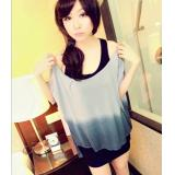 Stylish two-color gradient loose T-shirt