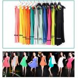 Sweet Coloured Slim Fit Dress