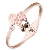 18K Rose Gold Plated Zodiac Goat/Sheep Bangle with Bell