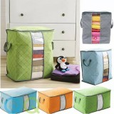 QQ Large Foldable Storage Bag Clothes Quilt Pillow Blanket Organizer Container Box