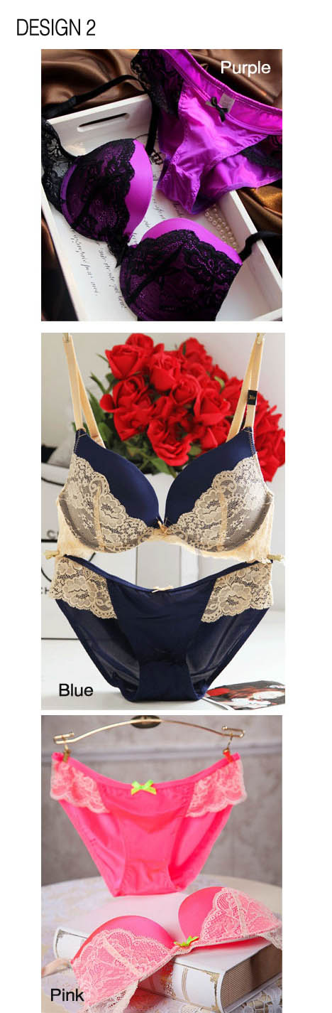 bba95c390498c Victoria's Secret Push Up / Lace Bra & Panties Set (Available in 3 ...